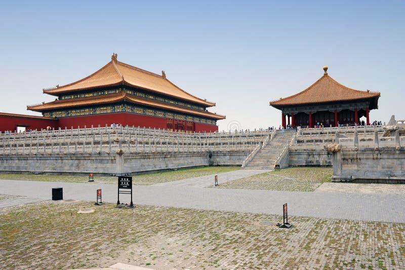 Cidade proibida famosa em Beijing, China fotografia de stock