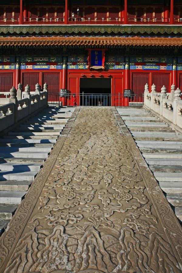 A cidade proibida histórica em Beijing imagens de stock