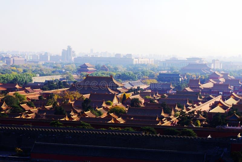 A Cidade Proibida sob a luz do sol foto de stock royalty free