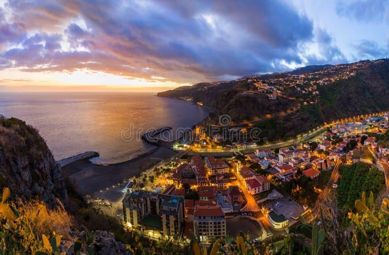 Cidade Ribeira Brava - Madeira Portugal foto de stock royalty free
