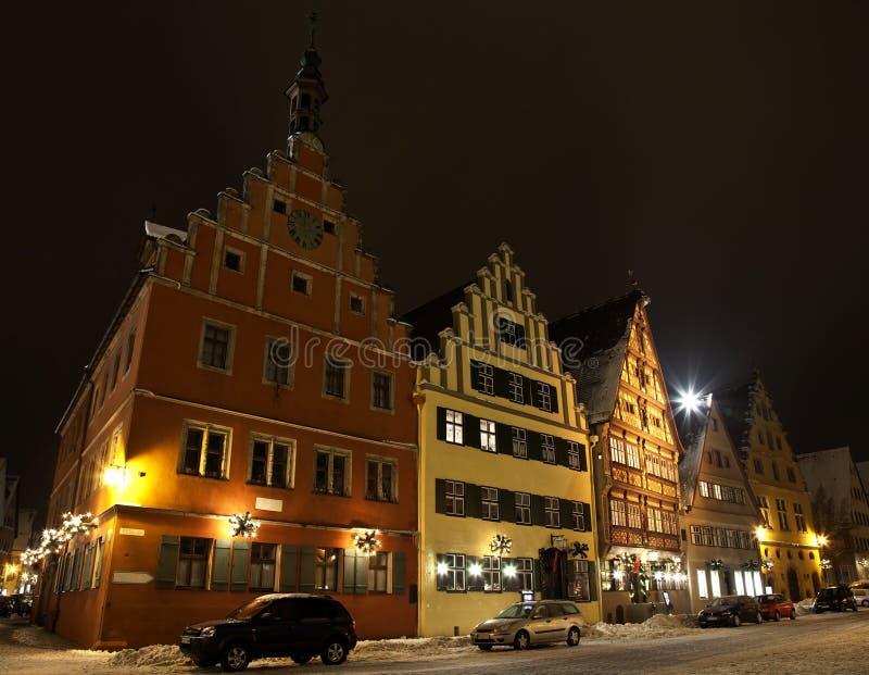 Cidade romântica Dinkelsbuhl da estrada de Alemanha imagens de stock