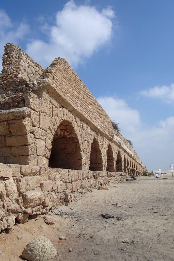 Cidade romana de Ceasarea Israel fotografia de stock royalty free