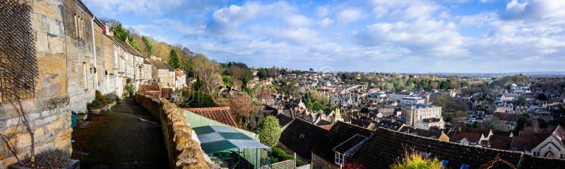Cidade romana de negligência da vista panorâmica de Bradford em Avon, Wiltshire, Reino Unido fotografia de stock royalty free