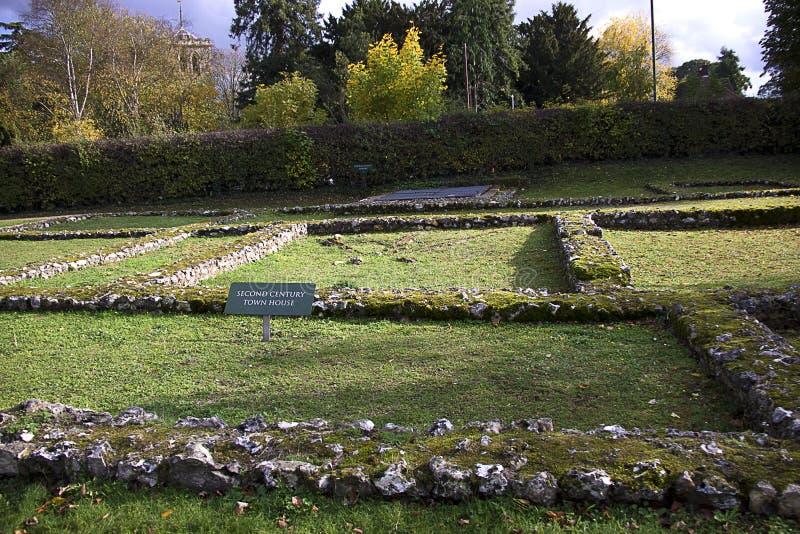 Cidade Romana do século II Verulamium St Albans, Hertfordshire, Inglaterra, Reino Unido foto de stock royalty free
