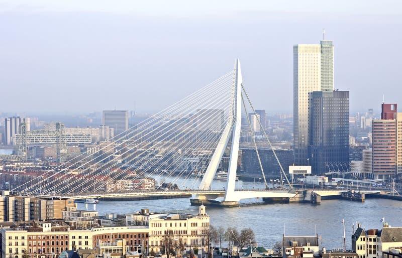 A cidade Rotterdam nos Países Baixos imagem de stock