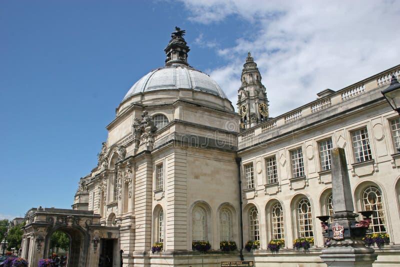 Cidade salão Cardiff imagens de stock royalty free
