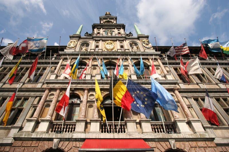 Cidade salão de Antuérpia imagem de stock