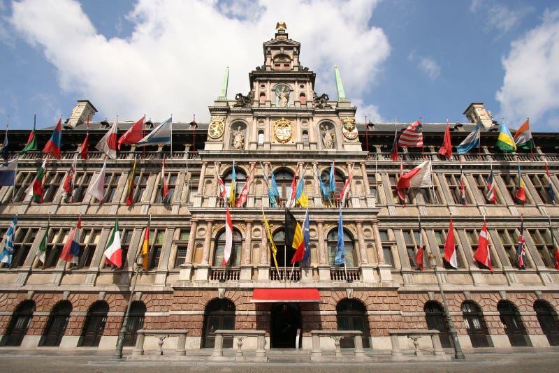 Cidade salão de Antuérpia imagem de stock royalty free