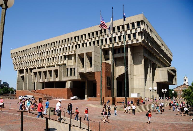 Cidade salão de Boston fotos de stock royalty free