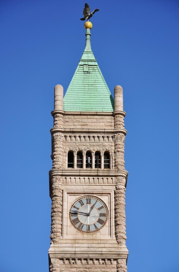 Cidade salão de Lowell, Massachusetts, EUA fotografia de stock royalty free
