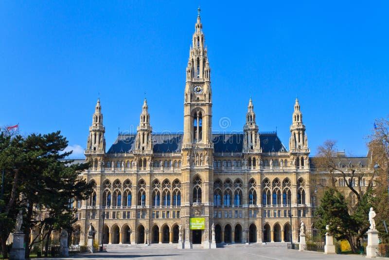 Cidade salão de Viena (Rathaus) fotografia de stock royalty free
