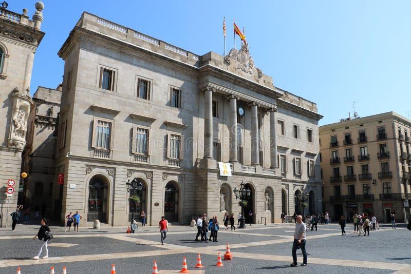 Cidade salão em Barcelona foto de stock