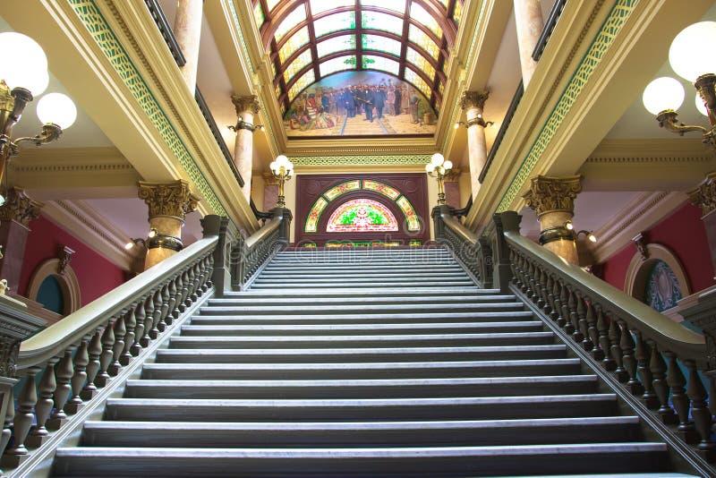 Cidade salão em Helena, Montana fotografia de stock