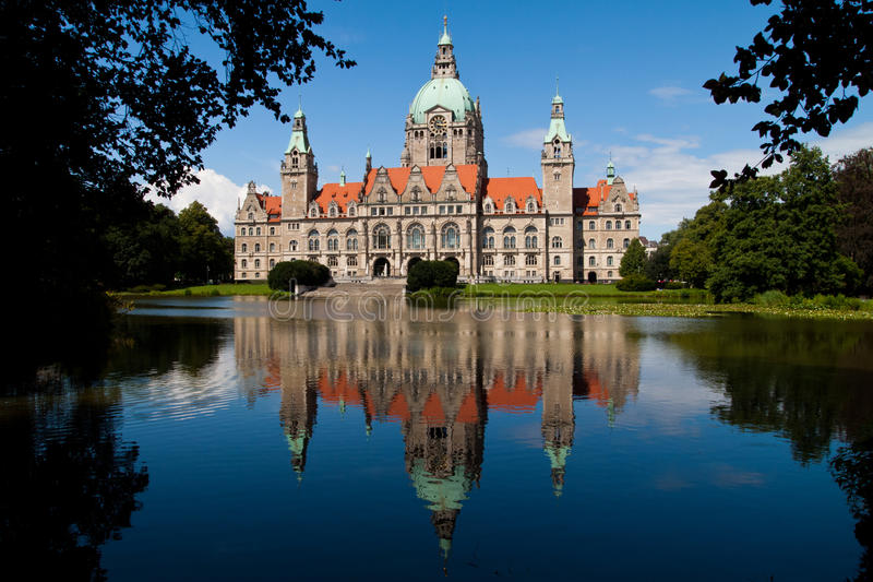 Cidade salão Hanover fotos de stock