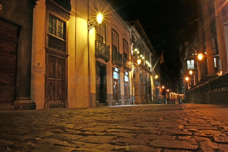 Cidade Santa Cruz de La Palma imagem de stock royalty free