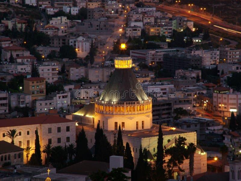 A cidade santa de Nazareth em mais baixo Galilee, Israel imagens de stock royalty free