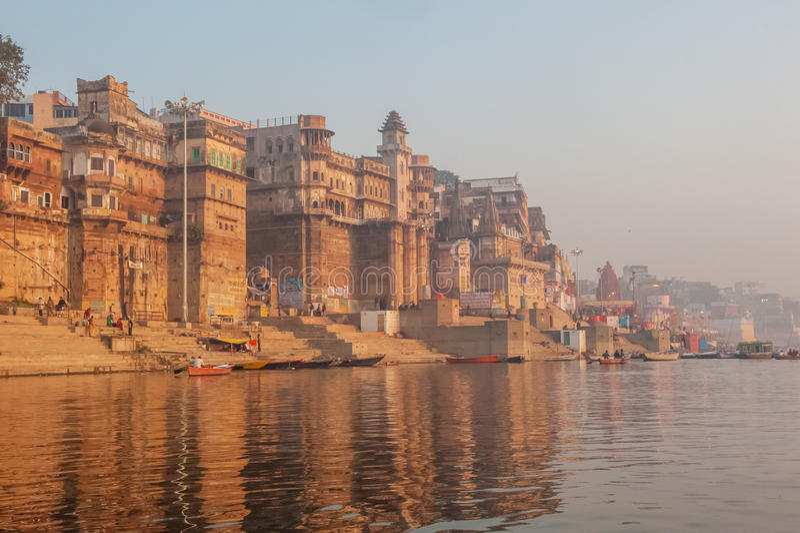 Cidade santa de Varanasi, Índia imagem de stock