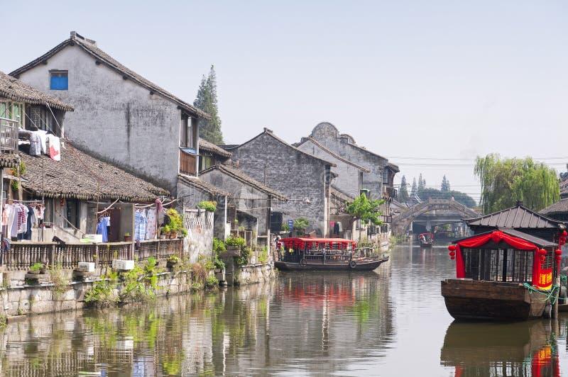 Cidade Shanghai de Fengjing foto de stock
