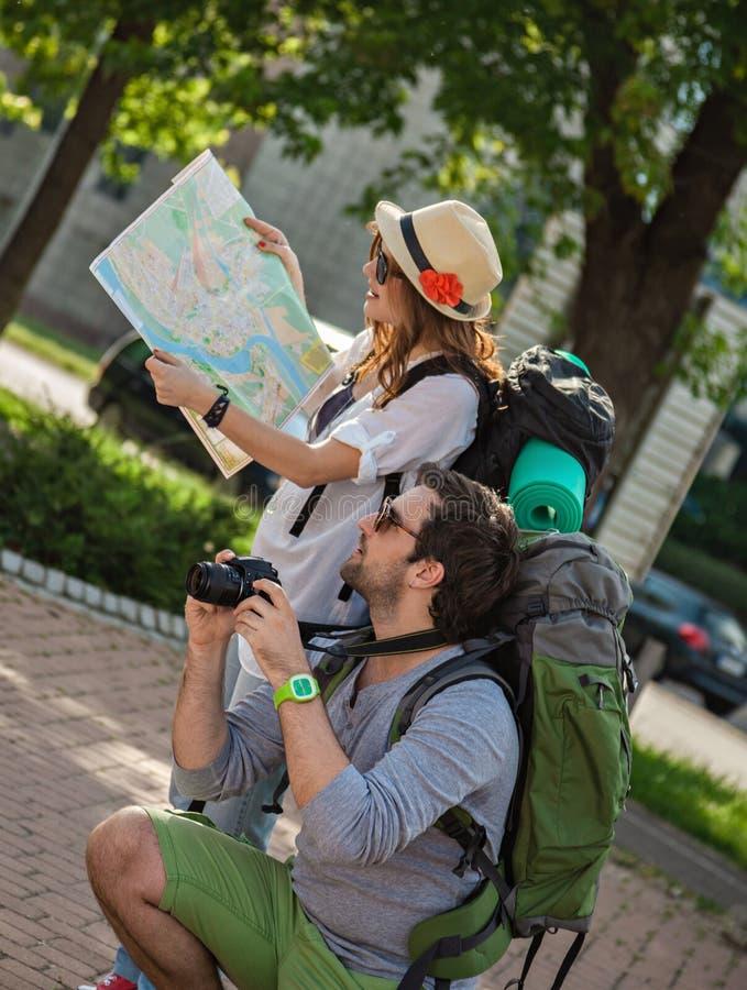 Cidade Sightseeing dos turistas imagem de stock