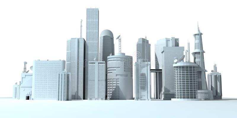 Cidade - skyline ilustração do vetor