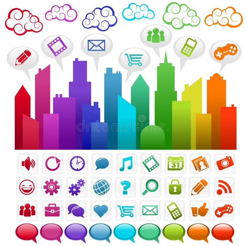 Cidade social dos media do arco-íris