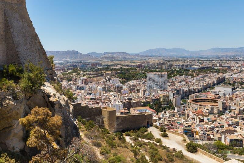 Cidade spain de Alicante no verão de cima de imagens de stock royalty free
