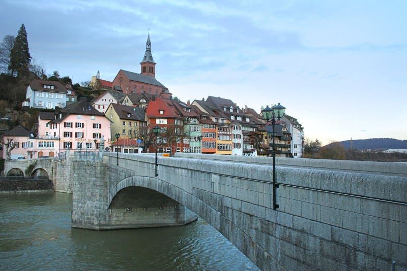 Cidade suíça Laufenburg fotos de stock