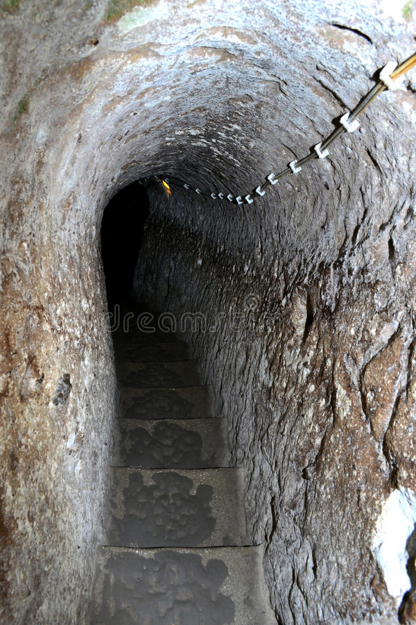 Cidade subterrânea de Derinkuyu foto de stock