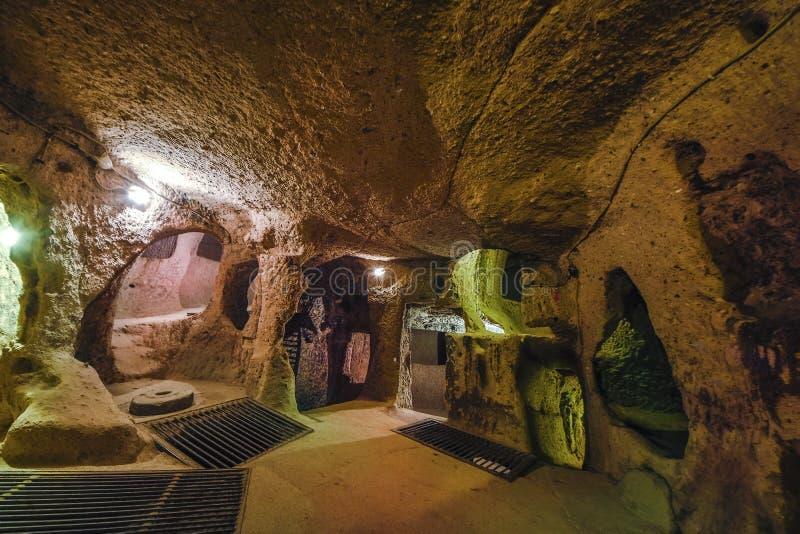 A cidade subterrânea de Kaymakli é contida dentro da citadela de Kaymakli em Anatolia Region central de Turquia foto de stock