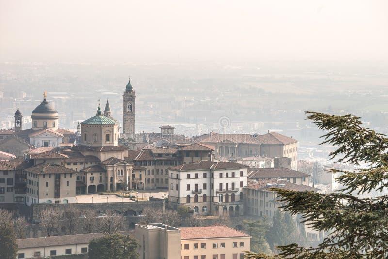 Cidade superior de Bergamo - Citta Alta fotos de stock royalty free