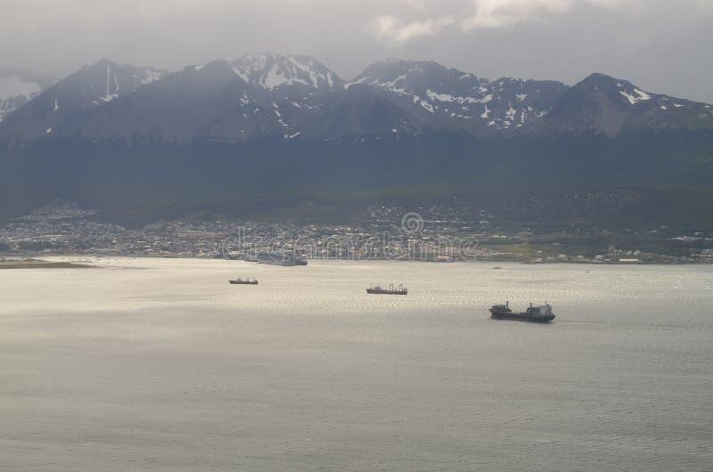 Cidade surpreendente Ushuaia em Argentina fotografia de stock royalty free
