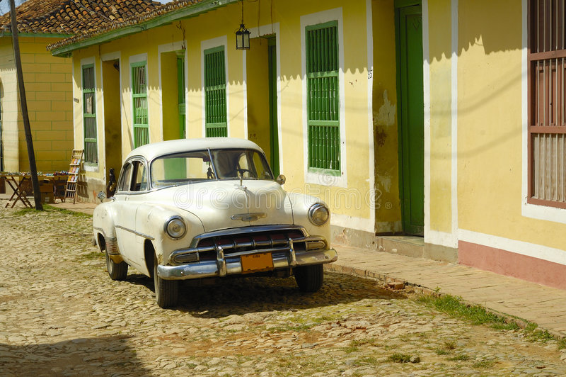 Cidade tropical do vintage - Trinidad fotos de stock royalty free