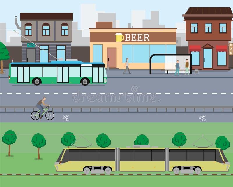 Cidade trraffic ilustração stock