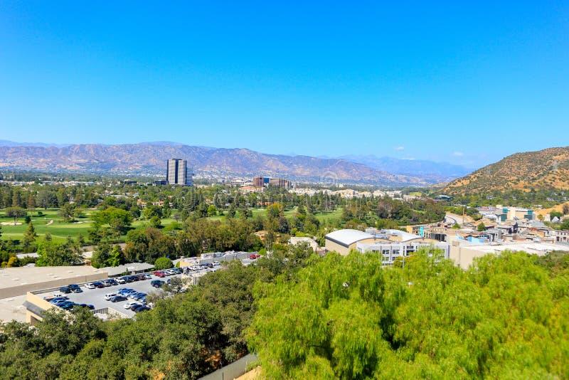 CIDADE UNIVERSAL, CA - 12 DE JUNHO DE 2017: Vista de estúdios universais em Los Angeles imagens de stock