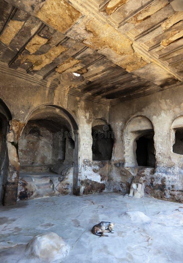 cidade Uplistsikhe da caverna de 3.000 y.o. Geórgia. imagens de stock