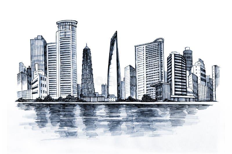Cidade urbana ilustração do vetor