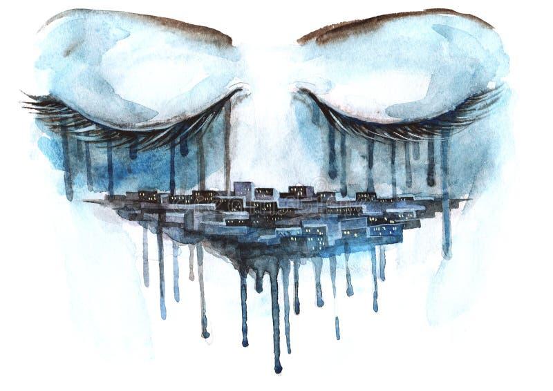 Cidade urbana ilustração stock