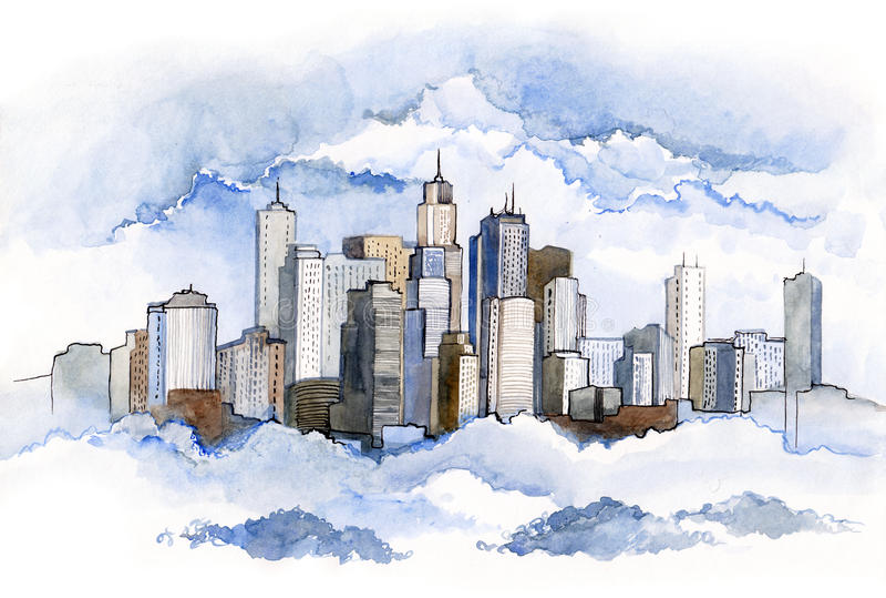 Cidade urbana (série C) ilustração do vetor