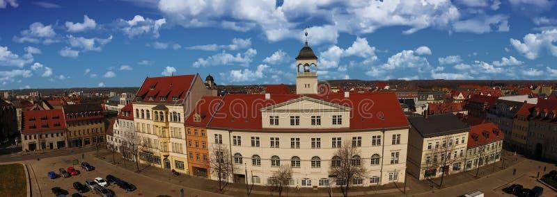 Cidade velha Alemanha Saxony-Anhalt da opinião aérea de Zeitz imagens de stock royalty free