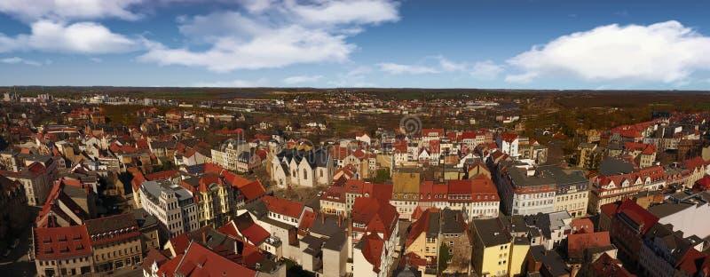 Cidade velha Alemanha Saxony-Anhalt da opinião aérea de Zeitz fotografia de stock royalty free