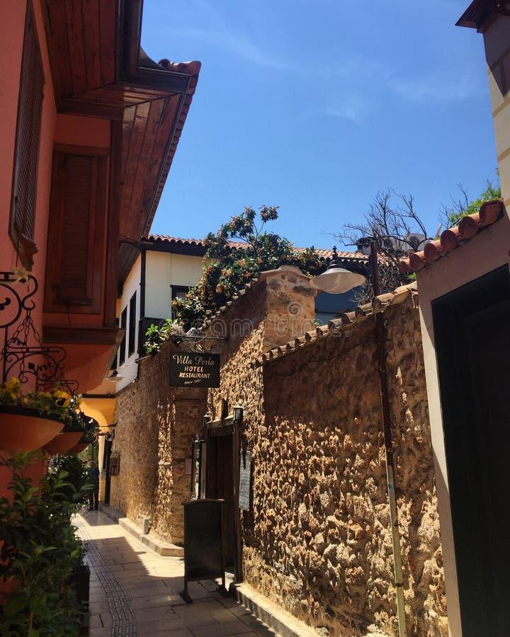 Cidade velha Antalya fotos de stock