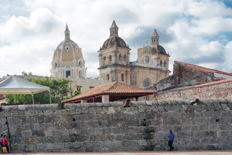 Cidade velha, Cartagena, Colômbia fotos de stock royalty free