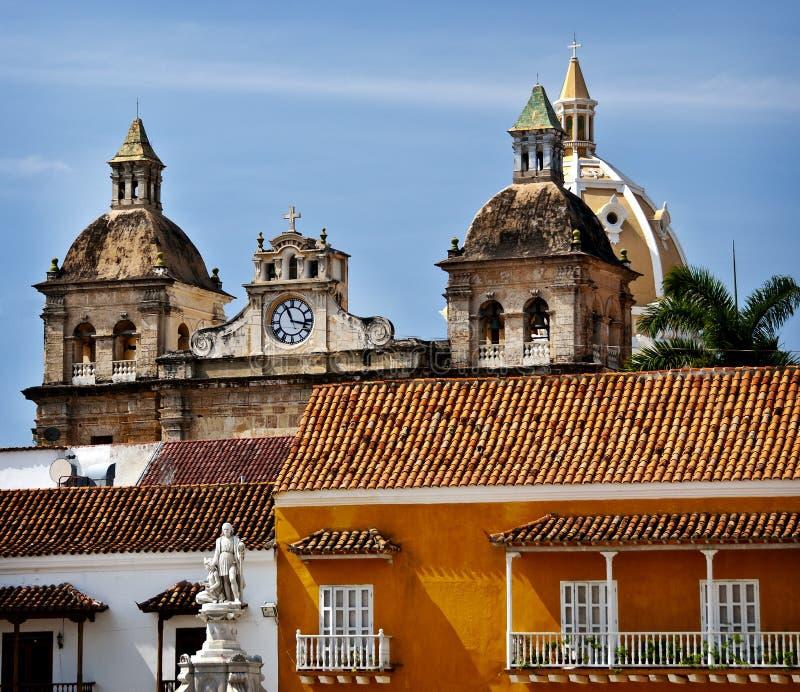Cidade velha Cartagena, Colômbia foto de stock royalty free
