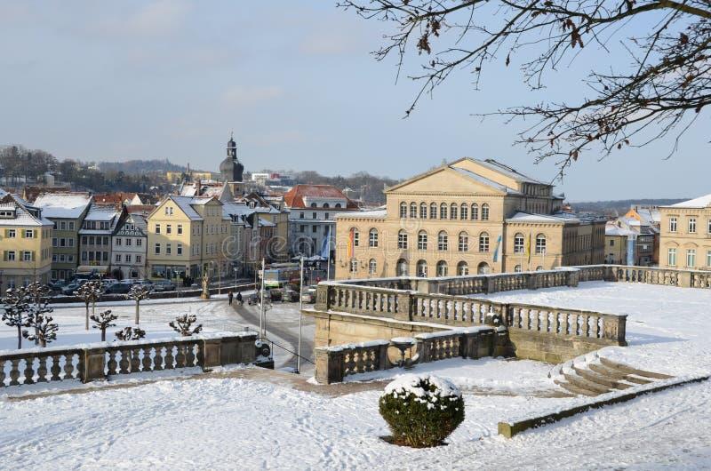 Cidade velha coburg da vista fotografia de stock