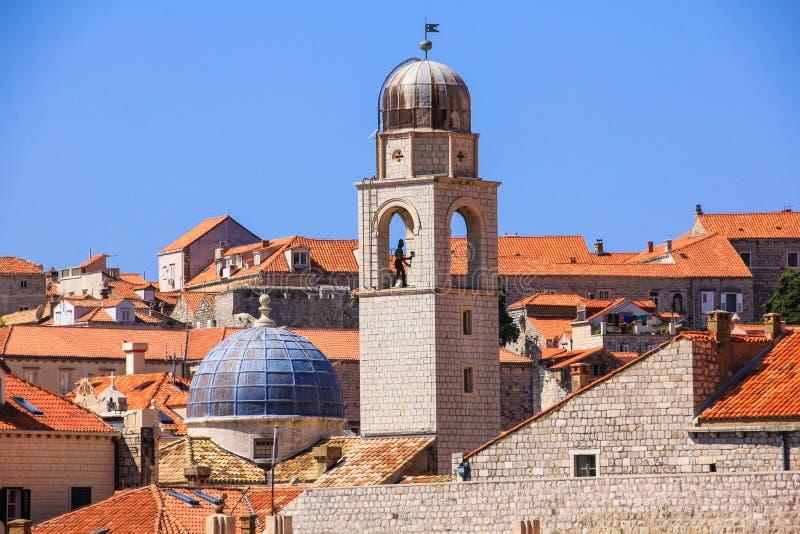 Cidade velha da Croácia de Dubrovnik imagem de stock