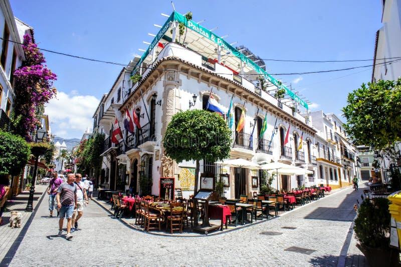 Cidade velha da Espanha de Marbella na Andaluzia fotografia de stock