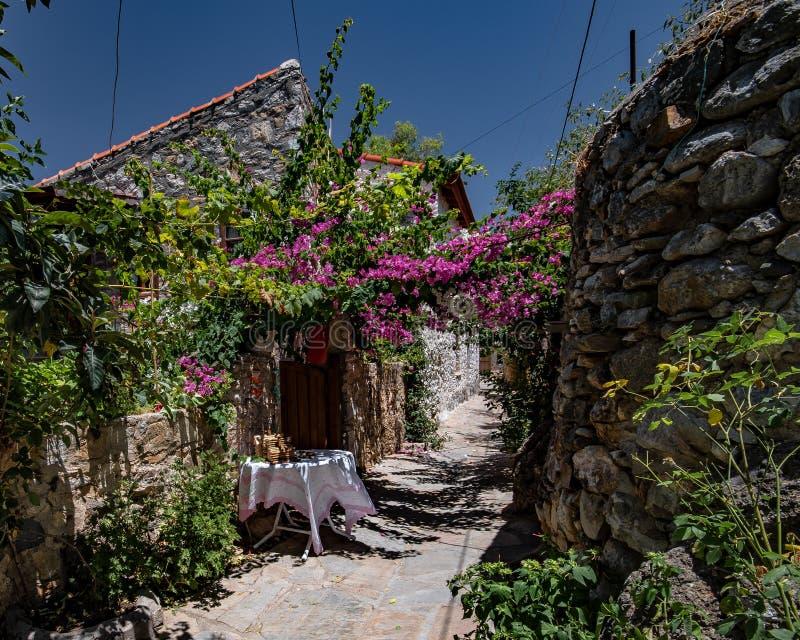 Cidade velha, Datca Turquia foto de stock royalty free