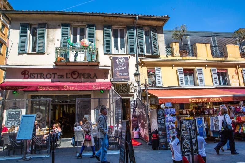 Cidade velha de agradável, France fotografia de stock royalty free