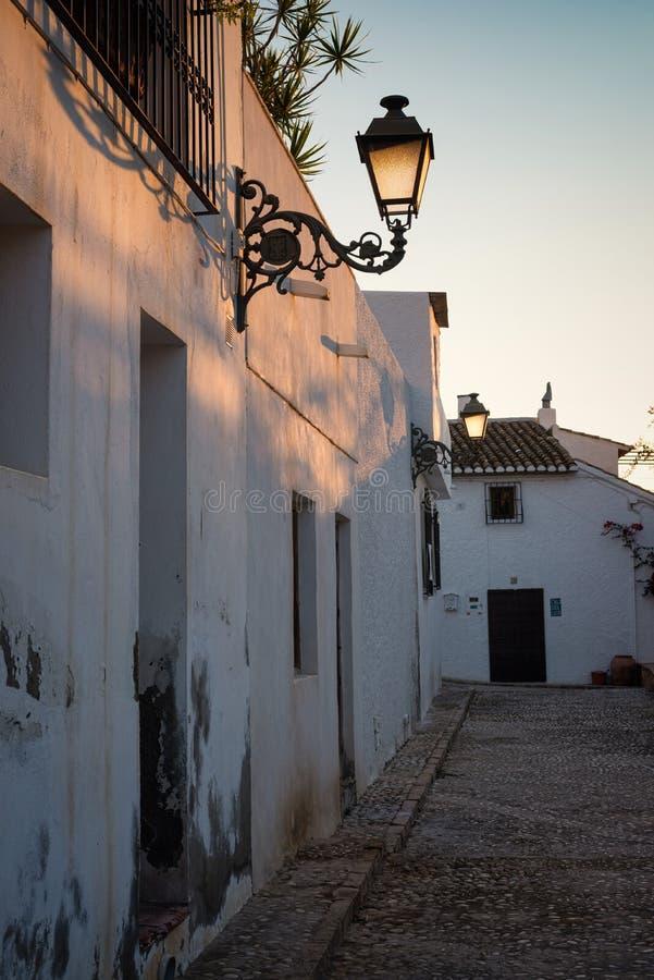 Download Cidade velha de Altea foto editorial. Imagem de vila - 80103026