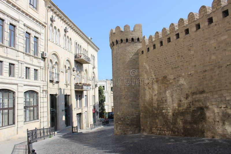 Cidade velha de Baku imagens de stock royalty free